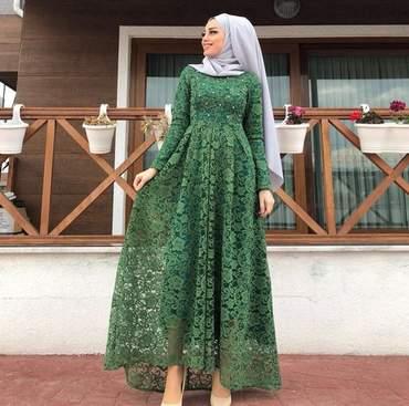 صور ازياء سهرة للمحجبات , احدث ملابس محجبات للسهرة 2019