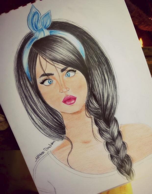 صورة رسم بنات كيوت , صور رسومات بنات جميلة جدا