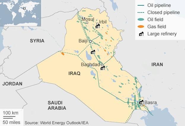 صورة خريطة حقول النفط في العراق , تعرف على اماكن حقول النفط في العراق