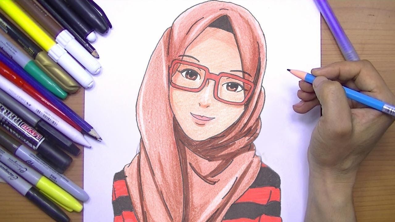 صورة رسومات بنات ملونة , اجمل صور رسومات للبنات ملونة