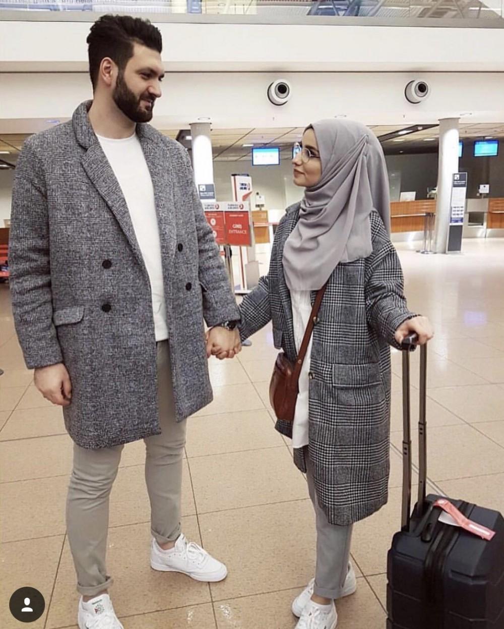 صورة ملابس شتوية للمحجبات 2019 , ملابس شتوية تجنن للمحجبات
