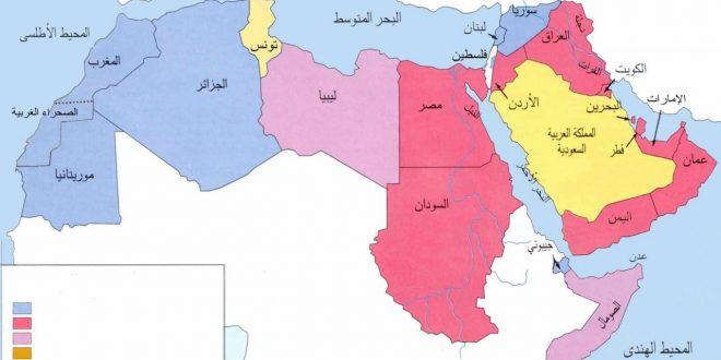 صورة خارطه الوطن العربي , اعرف اماكن البلاد العربية بالخريطة