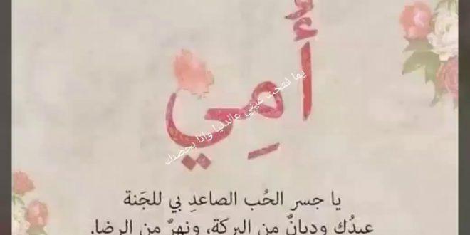 صورة قصيدة شعرية عن الام قصيرة , كلمات حب في عيد الام