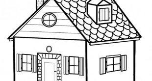 صور صور رسومات بيوت , علمي طفلك يرسم بيت
