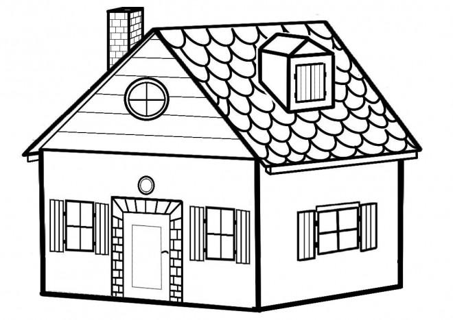 صورة صور رسومات بيوت , علمي طفلك يرسم بيت