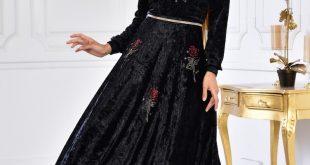 صورة فستان مخمل , واو فساتين مخمل قمة في الاناقة