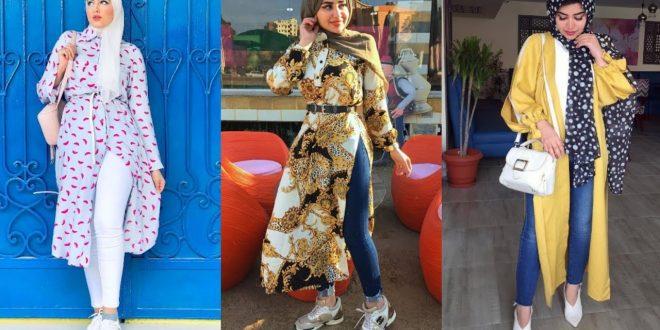 صورة موضة صيف 2019 للمحجبات , اشيك لبس جديد باحدث الموديلات