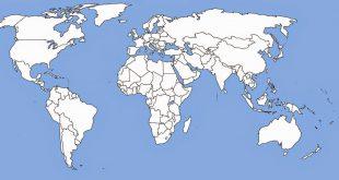 صورة خريطة العالم صماء , صور مفصلة ومميزة لخريطة العالم بقاراتها المختلفة