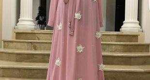 صورة حجابات مخيطة , اجمل تشكيلة من موديلات الحجاب المخيطة الجديدة