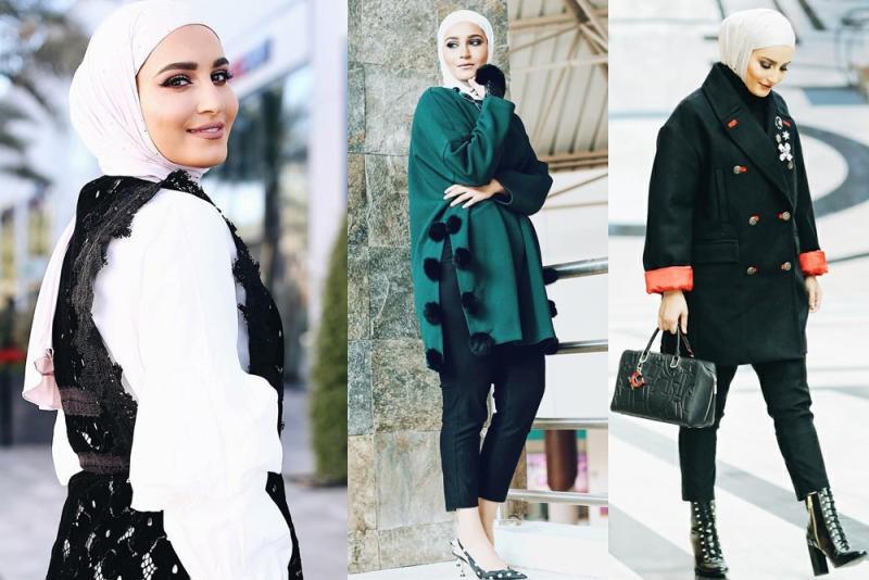 صورة ملابس شتوية للمحجبات , أرقى الموديلات الأنيقة لملابس الشتاء الحريمي