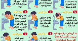 كيفية الوضوء للصلاة